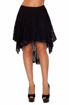 Slip Up Lace Fashionable Formal Cocktail Elegant Sophisticated High Low Skirt