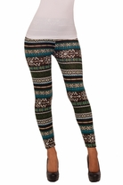 Soft Pattern Print Design Winter Fitted Fabulous Stretch Spandex Leggings