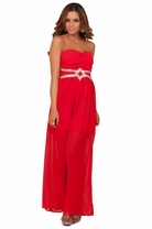 Strapless Formal Maxi Full Length Elegant Sequin Empire Waist Tube Party Dress