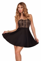 Strapless Mini Fit Flare Party Homecoming Sweetheart A Line Party Dress