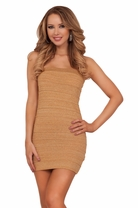 Strapless Shimmer Mini Bandage Party Cocktail Sexy Fitted Bodycon Tight Dress