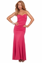 Strapless Tube Gown Ruched Formal Evening Party Special Events Long Maxi Dress