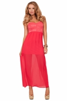 Sweetheart Strapless Lace Fitted High Low Peak-a-boo Back Evening Formal Dress