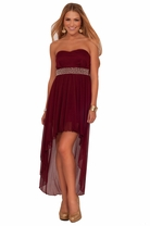 Teen High Low Prom Junior Strapless Empire Waist Homecoming Dance Party Dress