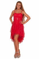 Teen Junior High Low Formal Homecoming Prom Dance Party Empire Waist Dress