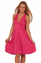 Teen Junior Marilyn Monroe Halter Party Pleated Homecoming Prom Formal Dress