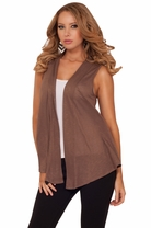 Urban Style Comfy Slouchy Loose Boho Bohemian Casual Sleeveless Draped Vest