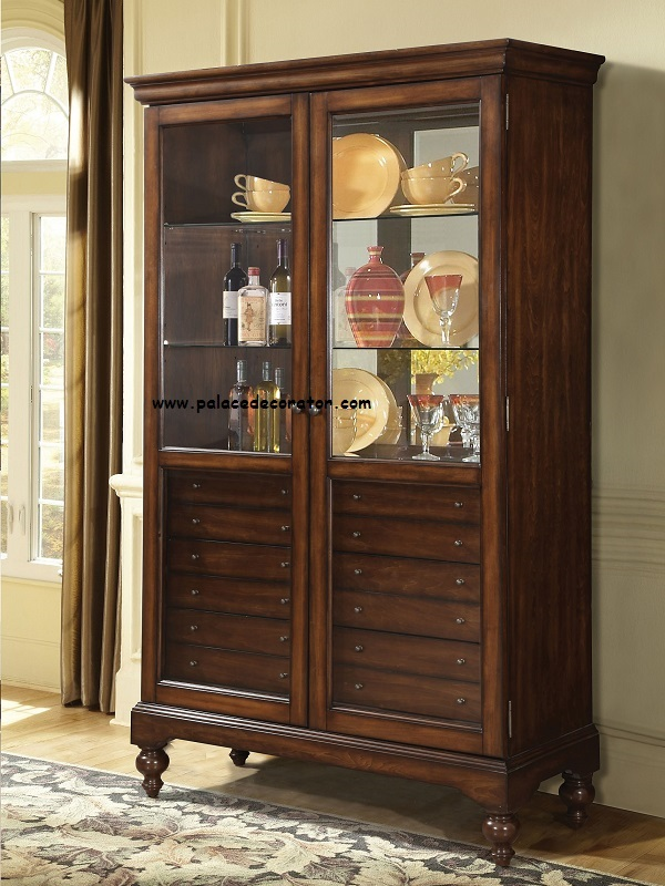 Acme Furniture Item A Dallin Cherry Finish Curio Cabinet