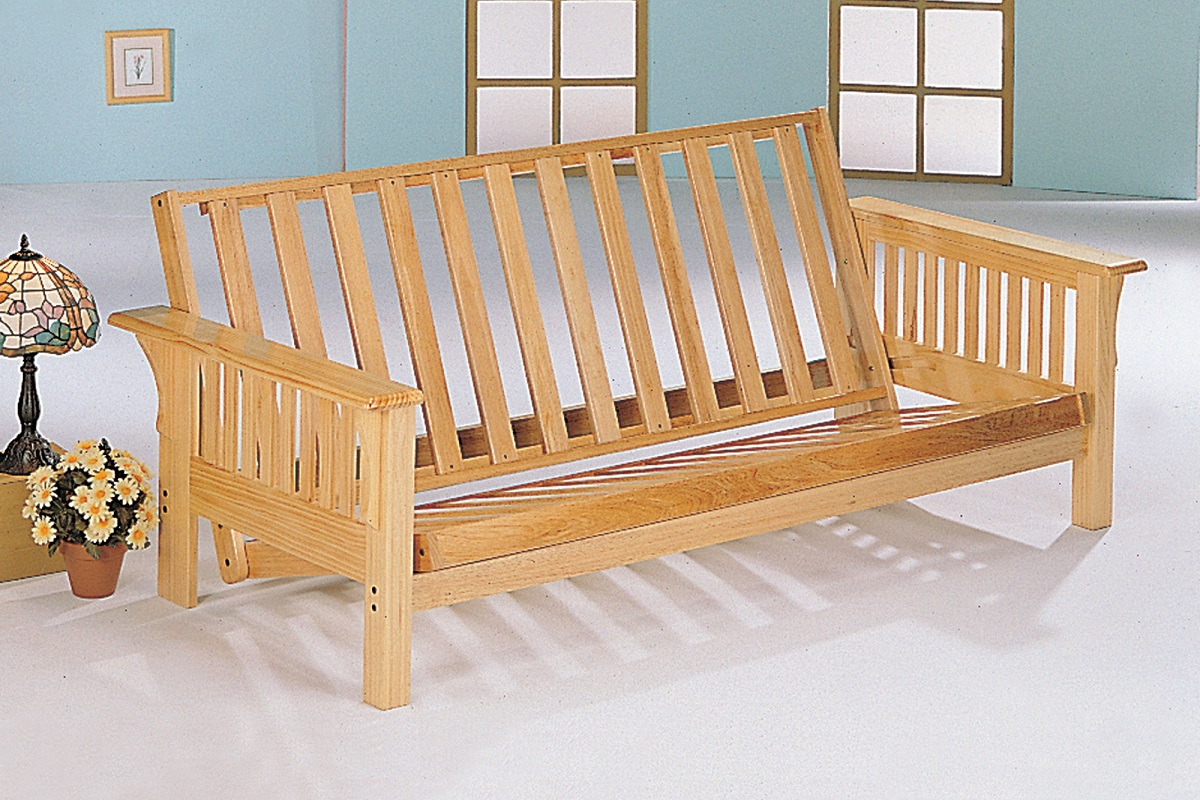 Futon Frame Solid Wood New Bi Fold