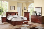 Dark Wood Finish Queen Bed Frames