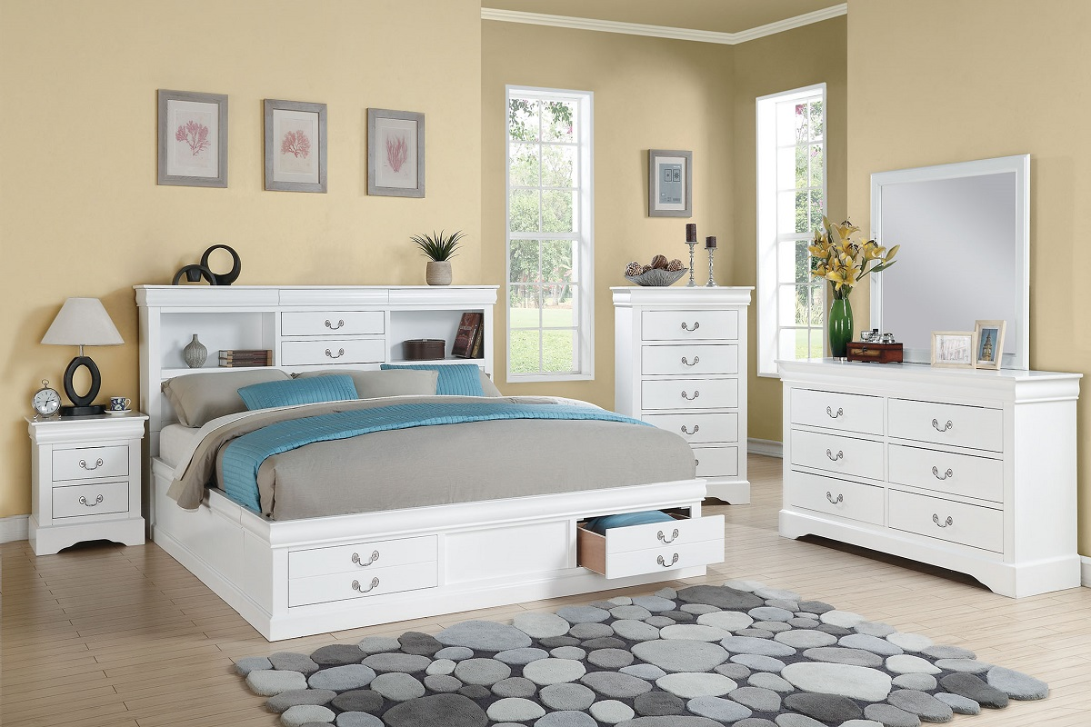 White king bed frames - California King Bed Frame W Storage