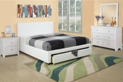 Queen Size Platform Bed Frame W/ Underbed Drawer