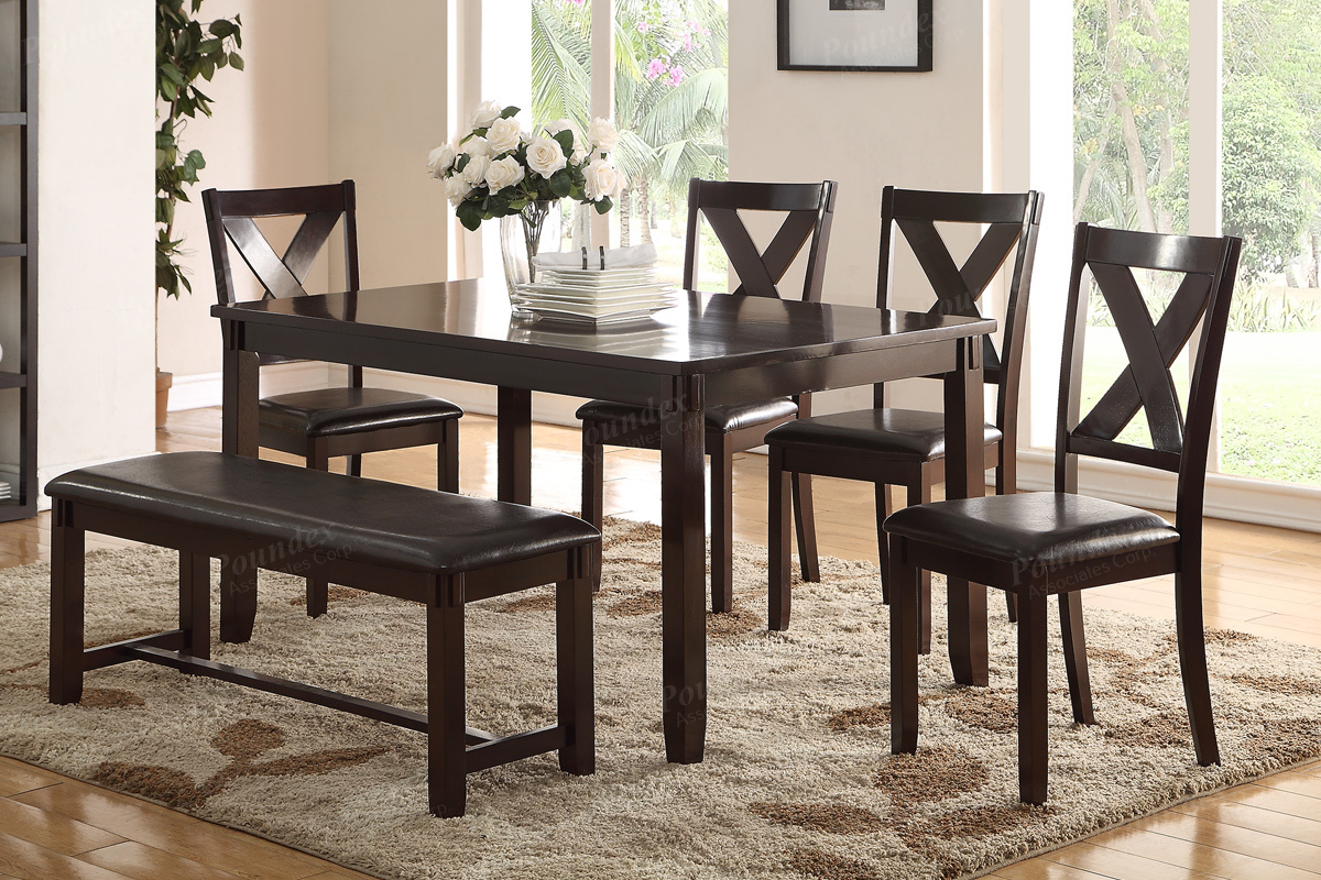 Associates Item F2297: 6 PCS Dining Table Set Casual Dining Table. Full resolution‎  snapshot, nominally Width 1200 Height 800 pixels, snapshot with #836F48.