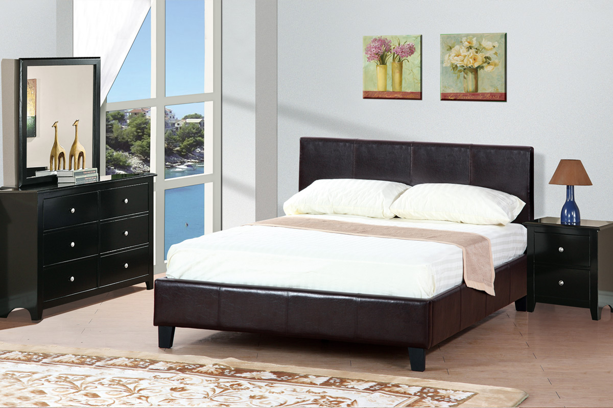 Platform Queen Bed Frame F9211 by poundex