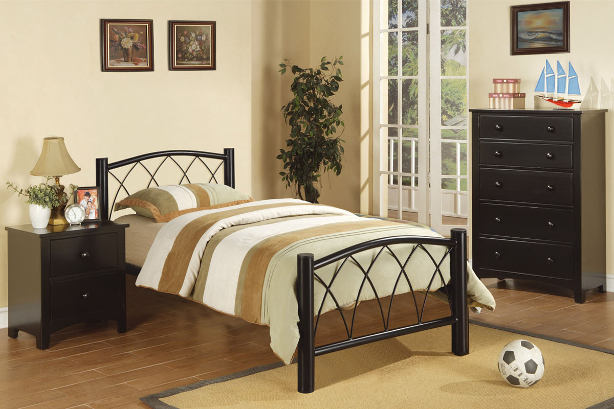 twin size bed frame - Metal Frame Twin Bed