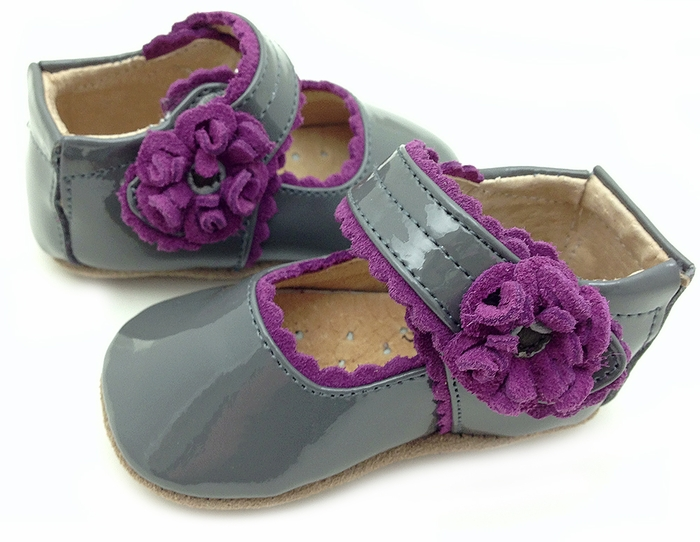 Baby Bluebell Gray Patent