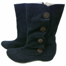 Marcha Boot Navy Suede Womens Fall 2013