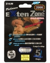 Extenzone Platinum 2000 Male Enhancement 1ct