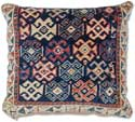 Antique Kazak Oriental Rug Pillow