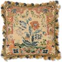 Aubusson Hillock Carnation Needlepoint Pillow