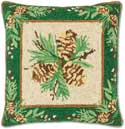 Balsam Hooked Christmas Pillow