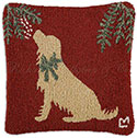 Christmas Dog Golden Retriever Pillow