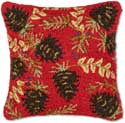 Christmas Red Pinecone Pillow