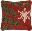 Christmas Snowflake Ornament Holiday Pillow
