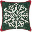 Classic Snowflake Hooked Pillow