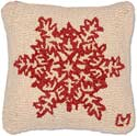Decorative Hooked Snowflake Christmas Pillow