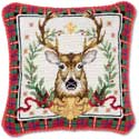 Decorative Hunting Buck Christmas Pillow