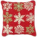 "Decorative Winter Snowflake Christmas Pillow<br><font color=""red""><font size=""2""><b>Only Three Left</b></font></font>"