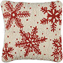 Designer Christmas Snowflakes Accent Pillow