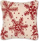 "Designer Christmas Snowflakes Accent Pillow<br><font color=""red""><font size=""2""><b>Only Two Left</b></font></font>"