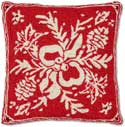 Designer Hooked Christmas Pillow