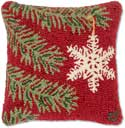 Designer Ornament Holiday Pillow