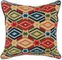 Diamond Lattice Needlepoint Pillow