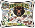 Embroidered Baylor Bears Collegiate Pillow