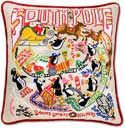 Embroidered Christmas South Pole Pillow