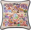 Embroidered Fort Worth Texas Handmade Pillow