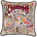 Embroidered Houston Texas City Pillow