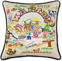 Embroidered Kansas State Throw Pillow