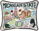 Embroidered Michigan State University Spartans Pillow