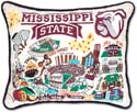 Embroidered Mississippi State Bulldogs Collegiate Pillow
