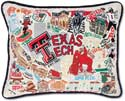 Embroidered Texas Tech Collegiate Pillow