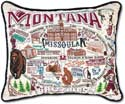 Embroidered University of Montana Pillow