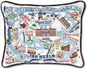 Embroidered University of North Carolina Tar Heels Pillow