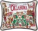 Embroidered University of Oklahoma Collegiate Sooners Pillow