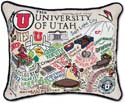Embroidered University of Utah Pillow