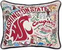 Embroidered Washington State Collegiate Pillow